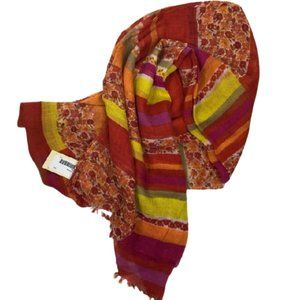 SCARF BY COLLECTION EIGHTEEN RED FLORAL…